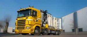 Gele Scania truck